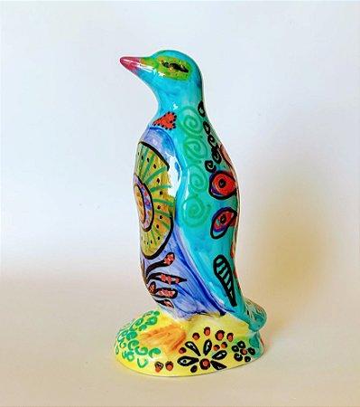 Pinguim Tatoo Turquesa Médio