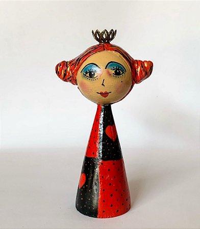 Boneca Rainha de Copas da Alice