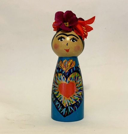 Boneca Frida Milagros Azul
