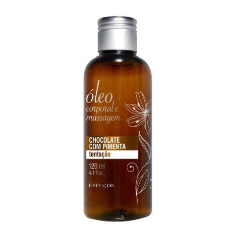 Óleo para Massagem - Chocolate c/ Pimenta - 120ml