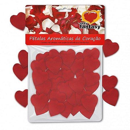 Pétalas de coração com aroma afrodisíaco - 60 pétalas
