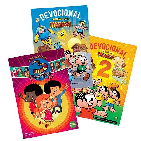 COMBO DEVOCIONAL KIDS: Devocional Turma da Mônica 1 e 2 + Devocional 3 Palavrinhas