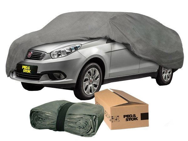 Capa Cobrir Carro Standard 100% Forrada com Cadeado - M