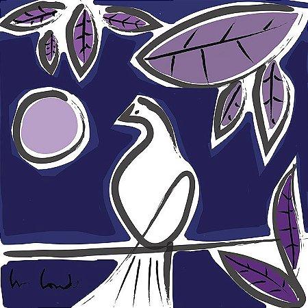 Pássaro e Lua Rosa