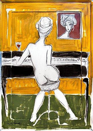 Pianista na Moldura