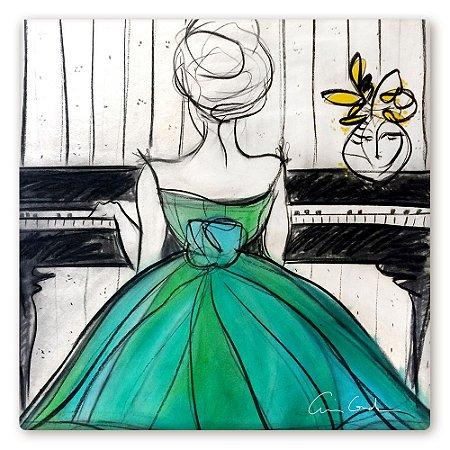 Pianista em Vestido Verde