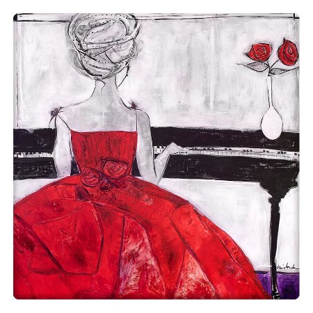 Pianista Vestido Vermelho