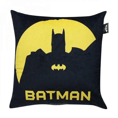 Almofada Decorativa Preta e Amarela Batman – DC Comics