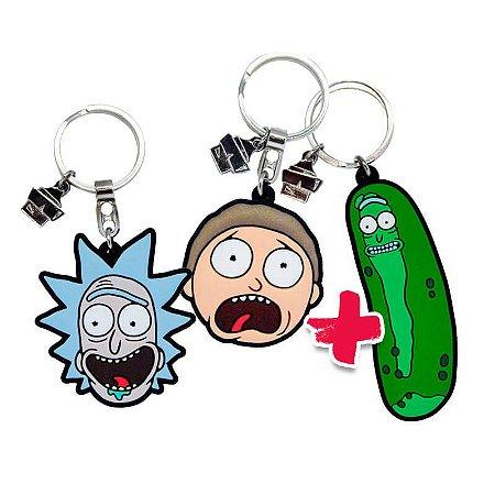 Combo Chaveiros Rick and Morty
