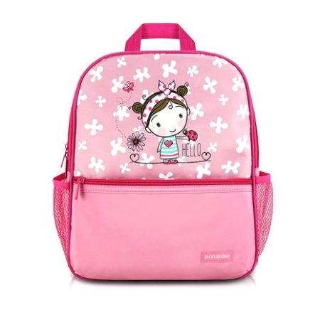 Mochila Escolar Infantil Rosa Menina Hello - Jacki Design