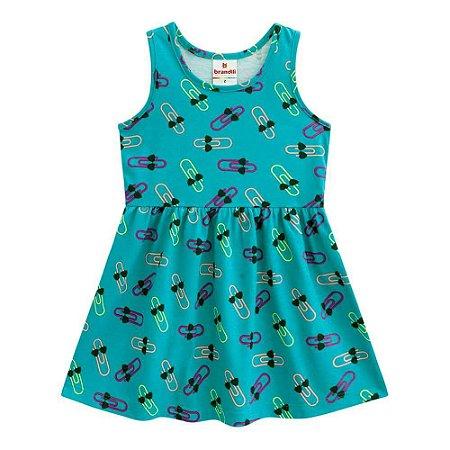 Vestido Bebê Regata Verde Clips (1/2/3) - Brandili