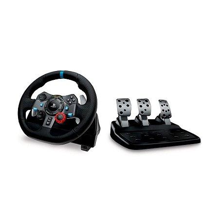 Volante Logitech Driving Force G29 - PS5, PS4, PS3 e PC