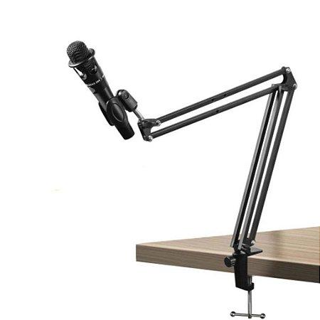 Suporte Pedestal P/Braço De Mesa Articulado Para Microfones Condensador.
