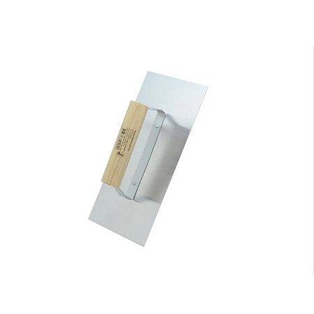 Desempenadeira Lisa Cabo De Madeira 12x25 Cm - Compel