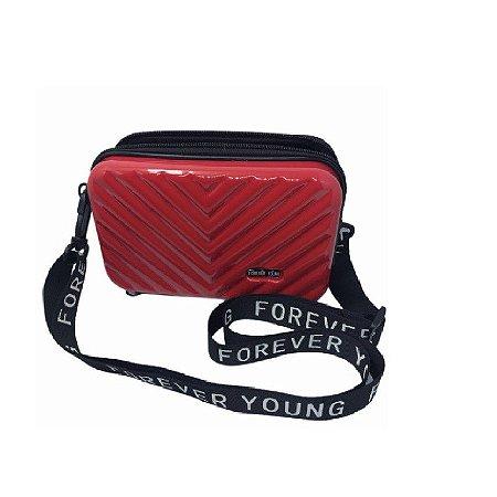 Mini Bag Bolsa de Blogueira Influencer Fibra Rígida Transversal Forever Young