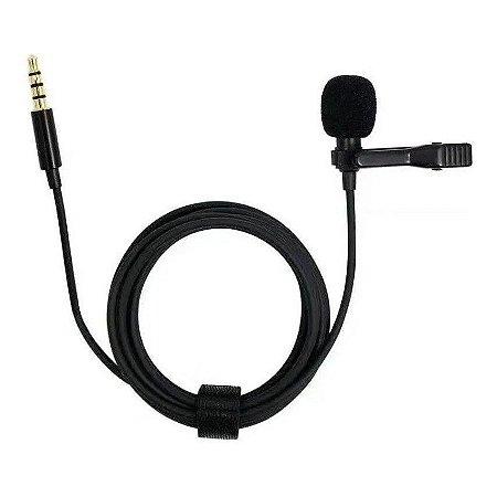 Microfone De Lapela Celular Smartphone Profissional 1,50 Cm