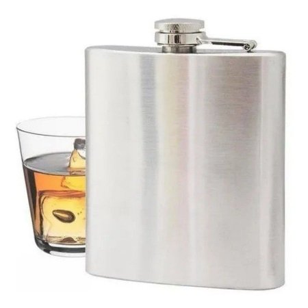 Cantil De Bolso Whisky Vodka Rum Aço Inox Porta Bebida 200ml Garrafa