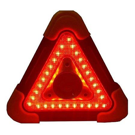 Triângulo Sinalizador Para Carro Segurança Solar Emergência