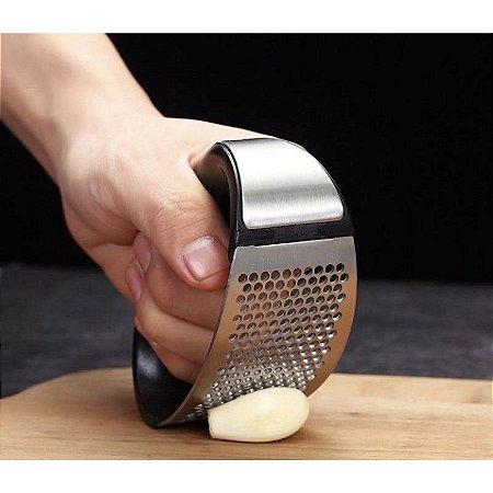 Amassador Triturador De Alho Moedor Espremedor Inox Manual Cozinha