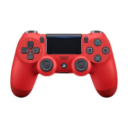Controle Sony Dualshock 4 Magma Red sem fio (Com led frontal) - PS4