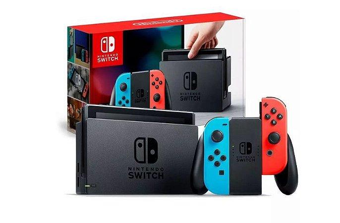 Console Nintendo Switch 32GB com Joy-Con Azul Vermelho