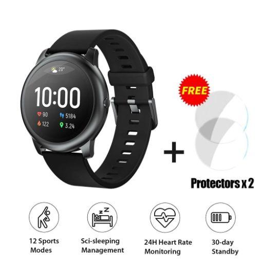 Versão Global Haylou Smart Watch Solar LS05 com 2Pcs Haylou Solar LS05 Screen Protectors