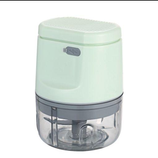 Processador elétrico para picador de alimentos Mini picadores de cebola 2 lâminas afiadas liquidificador portátil de alho mini misturador de temperos