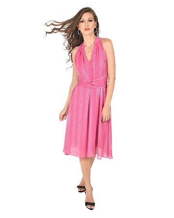 Vestido Cherry Amarração Listras