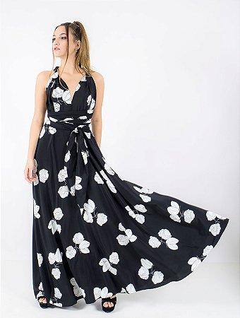Vestido Longo Floral Maria
