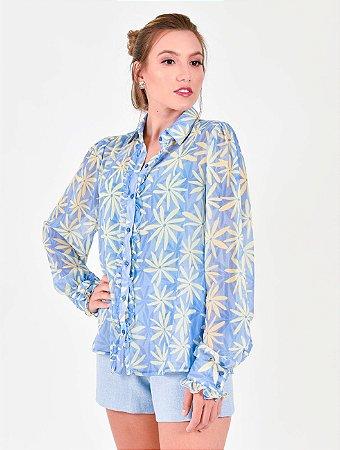 Blusa Camisa e Punho Mini Babadinhos