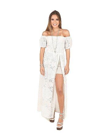 Vestido NATY Túnica Bianc Fenda