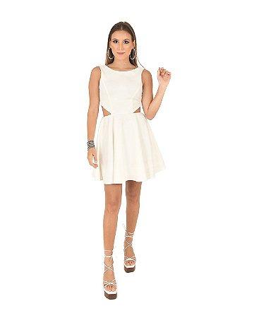 Vestido Crepe Zara Recorte Cintura