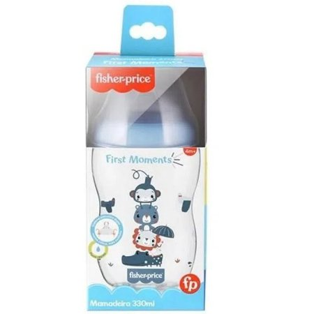 Mamadeira First Moments Azul Marshmallow 330Ml Fisher-Price