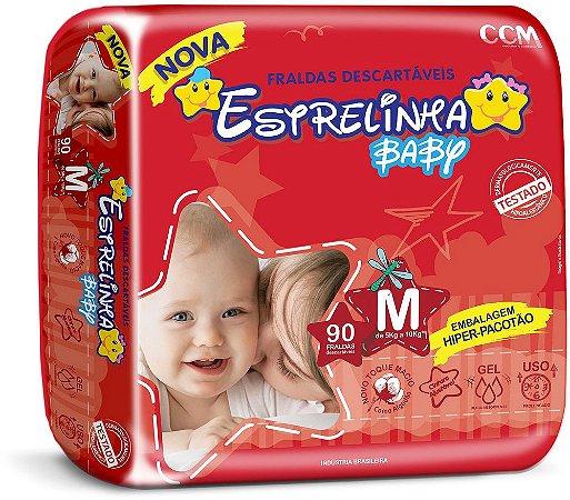 Fralda Estrelinha Baby Tamanho M 90 Unidades Hiper Pacotão