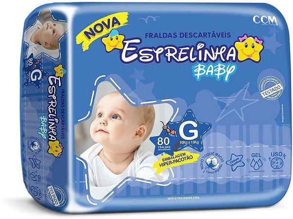 Fralda Estrelinha Baby Tamanho G 80 Unidades Hiper Pacotão