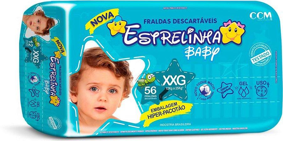 Fralda Estrelinha Baby Tamanho XXG 56 Unidades Hiper Pacotão