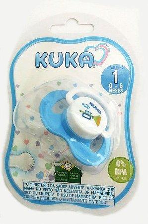 Chupeta Plus N°1 Kuka - Silicone RN Azul