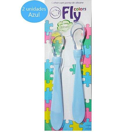 Colher com ponta de Silicone Fly Colors - 2 Unidades
