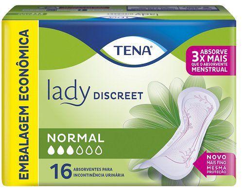 Absorvente Tena Lady Discreet NORMAL - 16 unidades
