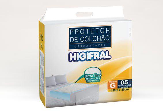 Protetor de Colchão Descartável Higifral - Tamanho G - 5 unidades