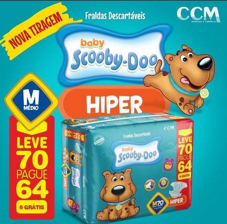 Fralda Baby Scooby Doo -Tamanho M - 70 Unidades