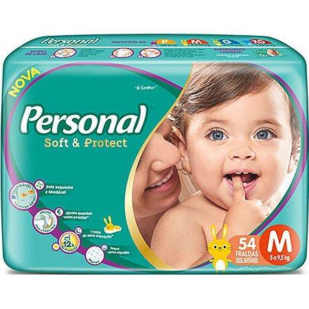 Fralda Personal Soft & Protect - Tamanho M - 54 Unidades