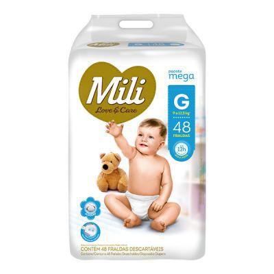 Fralda Mili Love & Care - Tamanho G - 48 unidades