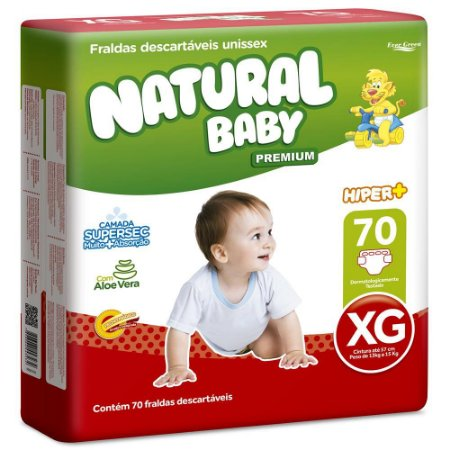 Fralda Natural Baby Premium - Tamanho XG - 70 unidades