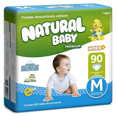 Fralda Natural Baby Premium - Tamanho M - 90 unidades