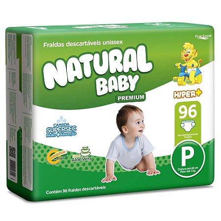 Fralda Natural Baby Premium - Tamanho P - 96 unidades