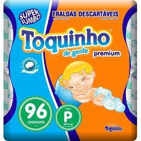 Fralda Toquinho Premium Tamanho P Com 96 unidades