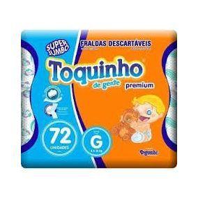 Fralda Toquinho Premium Tamanho G Com 72 unidades