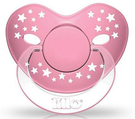 Chupeta Lillo Stars Baby Rosa - Tamanho 2 - +6 meses