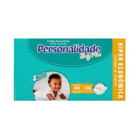 Fralda Personalidade Baby Plus - Tamanho XXG - 46 unidades